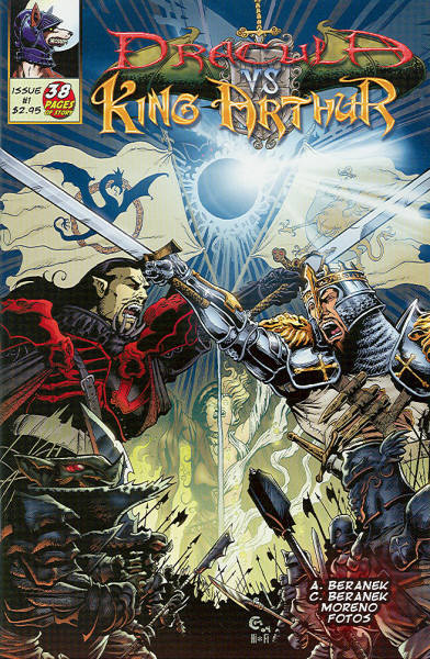 Dracula vs King Arthur cover image first issue