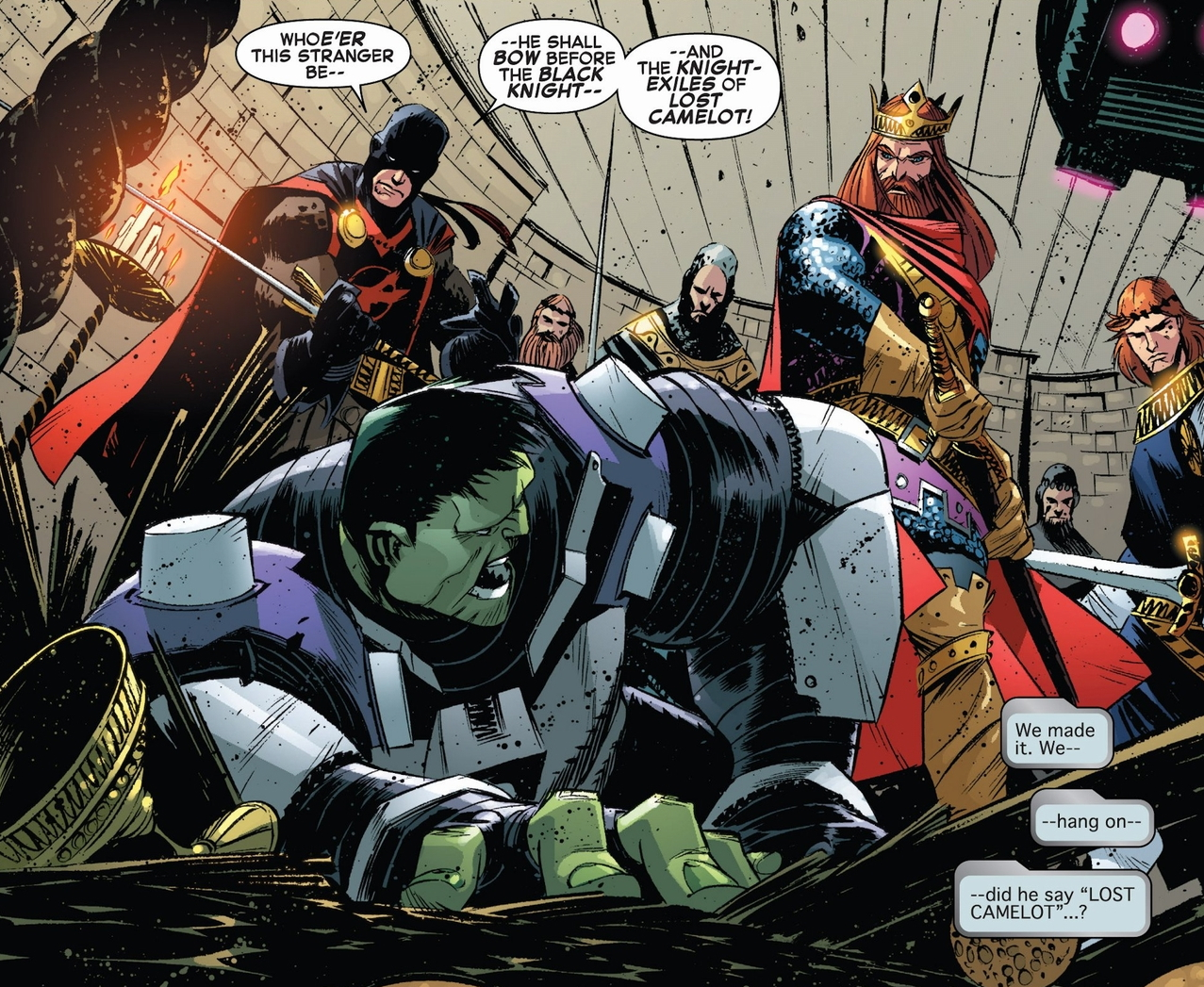 hulk panel with Arthur and Black Knight