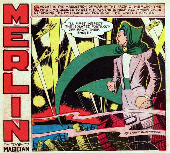 Merlin the Magician panel